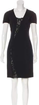 Emilio Pucci Short Sleeve Beaded Dress Black Short Sleeve Beaded Dress