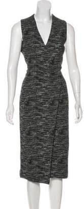 Alice + Olivia Sleeveless Midi Dress w/ Tags Black Sleeveless Midi Dress w/ Tags
