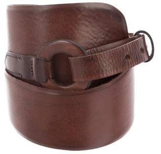 Hoss Intropia Leather Wide Belt