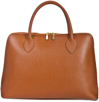 Italian Leather Saffiano Satchel