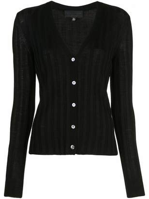 Nili Lotan Brenna Long Sleeve Button Down Ribbed Cardigan
