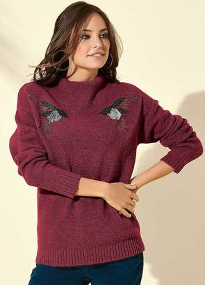 Kaleidoscope Sequin Bird Sweater