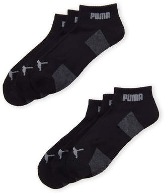 24b3d1daa15c Puma 6-Pack Cushioned Quarter Crew Socks