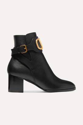 Valentino Garavani Vlogo 60 Leather Ankle Boots - Black