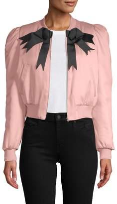 Manoush Women's Puffy Sleeve Bomber Jacket