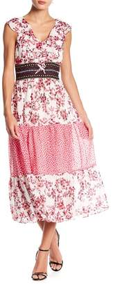 Taylor Ruffle Printed Maxi Dress