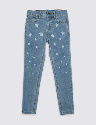 Marks and Spencer Cotton Star Jeans with Stretch (3-16 Years)