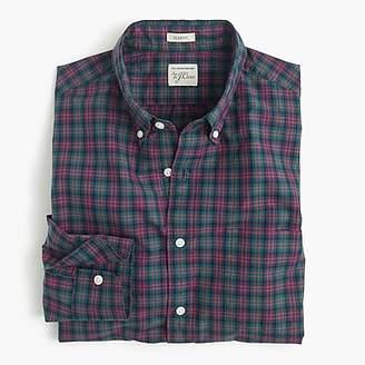 J.Crew Secret Wash shirt in warm spruce plaid