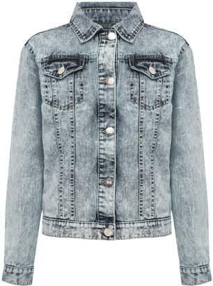 M&Co Teens' embroidered denim jacket
