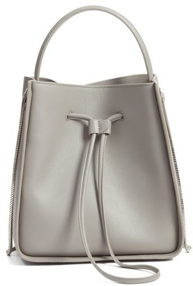 3.1 Phillip Lim 'Small Soleil' Leather Bucket Bag - Grey $895 thestylecure.com
