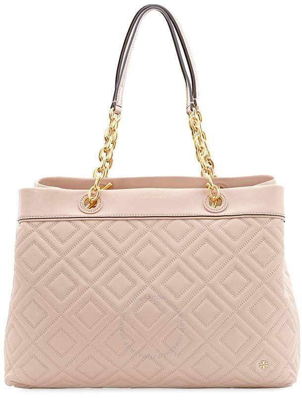 Tory Burch Fleming Triple Compartment Tote- New Mink - ONE COLOR - STYLE