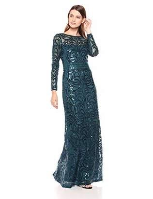 Tadashi Shoji Women's l/s Sequin Gown