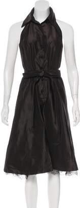 Carmen Marc Valvo Midi A-Line Dress