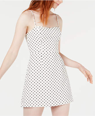 French Connection Polka-Dot Printed Mini Dress