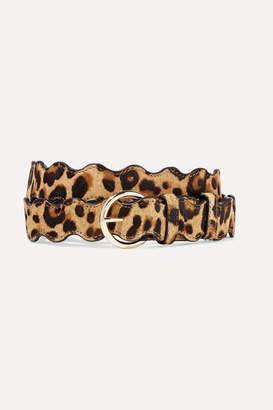 Loeffler Randall Blythe Leopard-print Calf Hair Belt - Leopard print