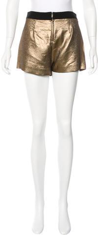 A.L.C.A.L.C. Metallic Pleated Shorts