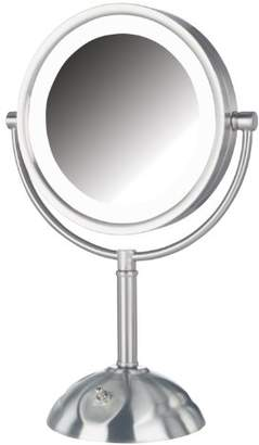Jerdon HL8808NL 8.5-Inch Tabletop Two-Sided Swivel LED Lighted Vanity Mirror with 8x Magnification