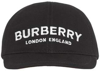 Burberry Logo Print Cotton Baseball Hat