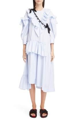 Simone Rocha Stripe Ruffle Bow Dress