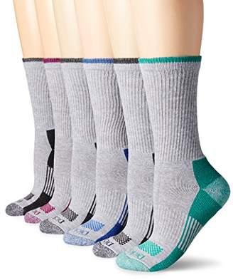 Dickies Women's Dritech Advanced Moisture Wicking Crew Sock (6/12 Packs)