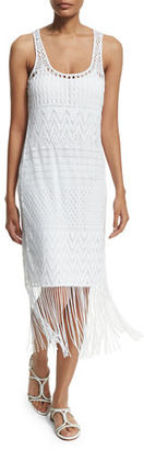 La Blanca Crystal Cover Crocheted Coverup Dress $85 thestylecure.com