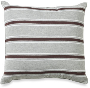 Nautica Glen Cove Chocolate Stripe Square Toss Pillow