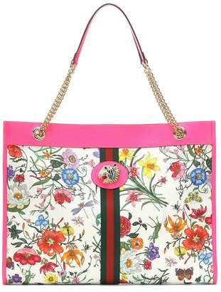 82c571a0 Gucci Rajah Large floral tote