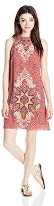 My Michelle Sequin Hearts by Junior's Printed Crepon Sleeveless Dress