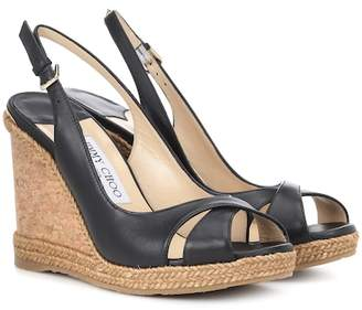 Jimmy Choo Noir Wedge Sandals Australia For Femme ShopStyle Australia Sandals 6004a2