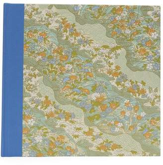 Esmie Blue and Orange Flowers Guest Book