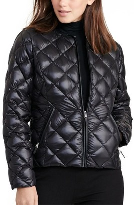 Women's Lauren Ralph Lauren Quilted Collarless Down Jacket $160 thestylecure.com