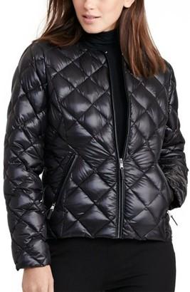 Women's Lauren Ralph Lauren Quilted Collarless Down Jacket $160 thestylecure.com