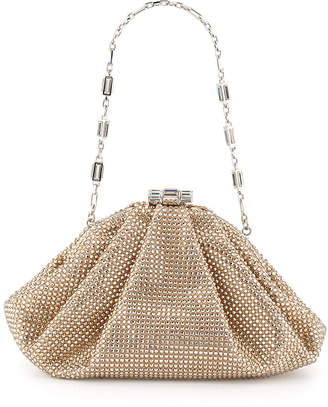 Judith Leiber Couture Enchanted Allover Beaded Pochette Clutch Bag