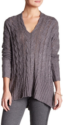 Leibl '38 Leibl &38 V-Neck Hi-Lo Knit Slouchy Sweater $88 thestylecure.com