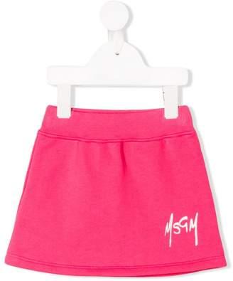 MSGM Kids logo print skirt