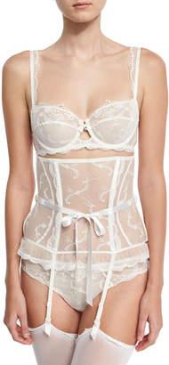Lise Charmel Orchid Paradis Waspie Suspender Garter Belt, Ivory
