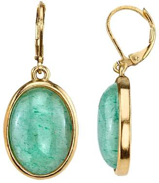 1928 Oval Cabochon Drop Earrings