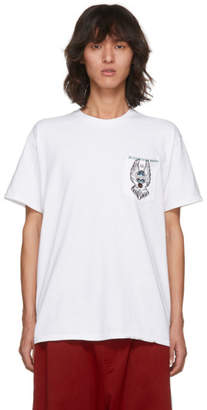 Toga Virilis White Graphic Pocket T-Shirt