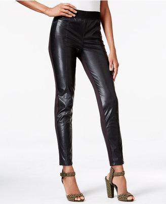 RACHEL Rachel Roy Faux-Leather Combo Leggings $79 thestylecure.com