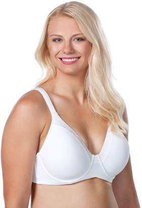 Leading Lady Women's Plus Size Luxe Body T-Shirt Bra with Underwire Support
