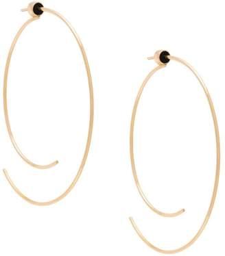 Diane Kordas curved open hoop earrings