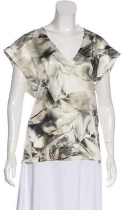 Barbara Bui Silk Printed Top
