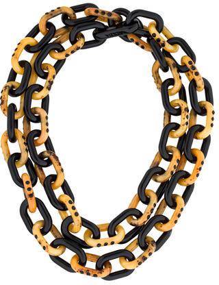 pradaPrada Resin & Crystal Link Necklace