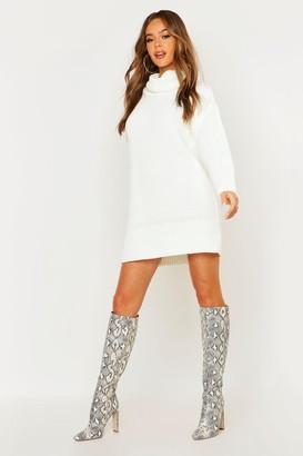 boohoo Roll Neck Sweater Dress