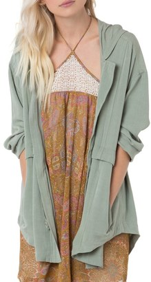 O'Neill 'Chance' Drawstring Twill Jacket $99.50 thestylecure.com