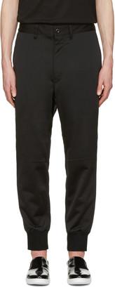Junya Watanabe Black Loopback Trousers $385 thestylecure.com