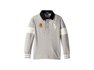 Polo Ralph Lauren Big Pony Cotton Jersey Rugby (Little Kids/Big Kids)