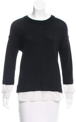 Brochu Walker Wool Underlay-Accented Sweater