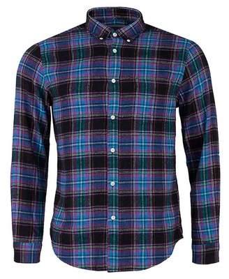 Portuguese Flannel Happy Checked Flannel Button Down Shirt