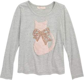 Truly Me Furry Cat Long Sleeve Tee